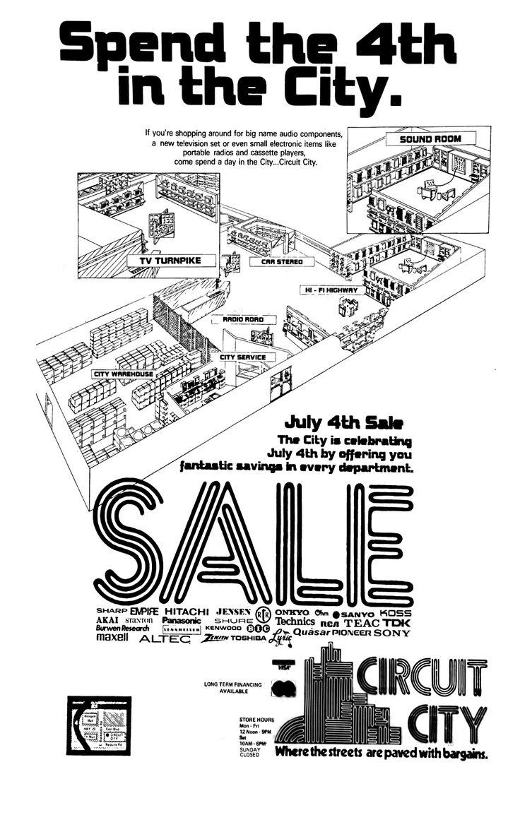 Circuit city july 1979 spartanburg circuit city