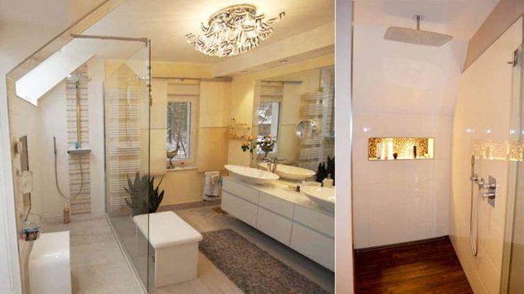 die besten 25 badezimmer mit schr ge ideen auf pinterest duschglaswand glasduschwand und. Black Bedroom Furniture Sets. Home Design Ideas
