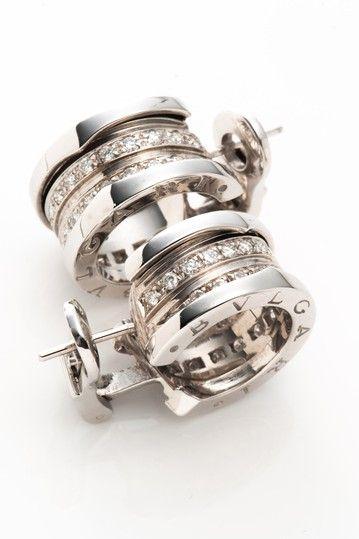 vintage bvlgari 18k white gold b zero 1 pierced earrings by lxr on hautelook