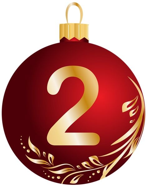 Christmas Ball Number Two Transparent PNG Clip Art Image