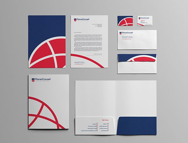 PLANETCONSEIL / Visual Identity on Behance