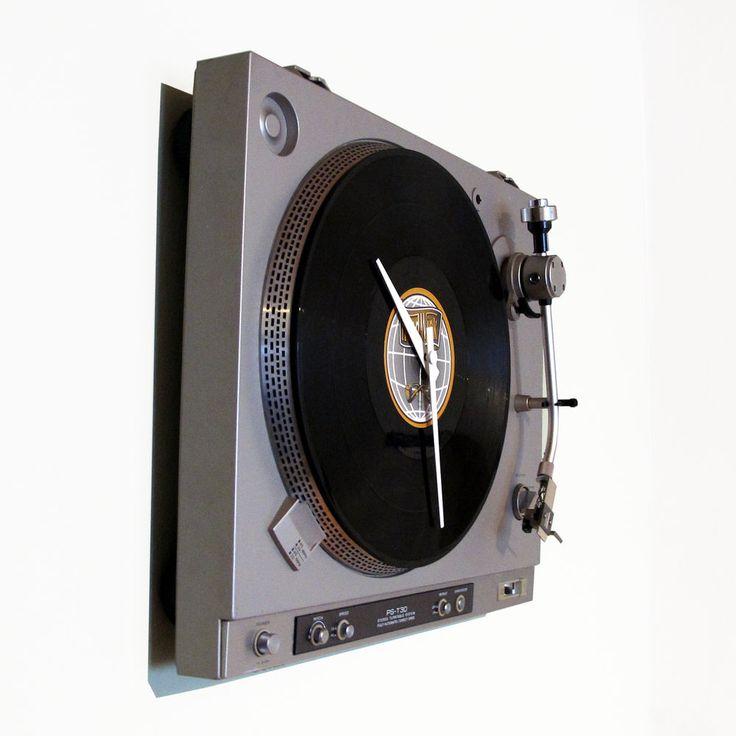 Wanduhr Plattenspieler Moderne Wohnzimmer Uhr Unikat Besonderes Geschenk In Uhren Schmuck Weitere