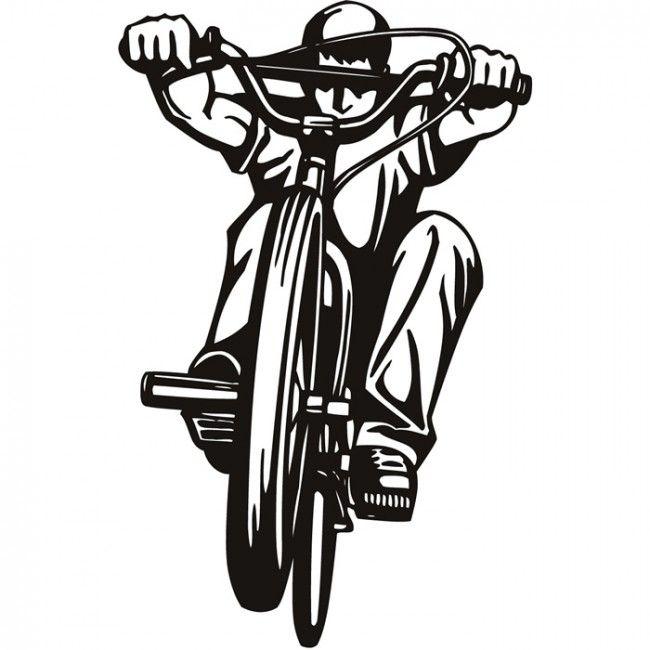 BMX Rider Wall Stickers Bike Wall Art