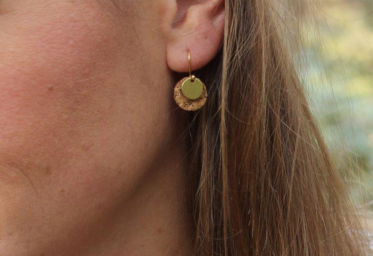 Ohrringe - Ohrringe Dots / Kreis / Plättchen - kork //vegan// - ein Designerstück von Bohani bei DaWanda