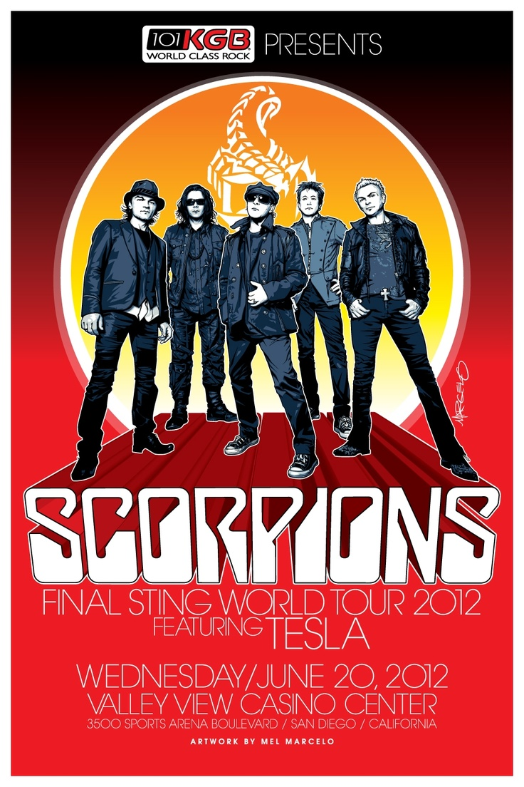 The animals band logo scorpions band logo - Commemorative Poster For The Scorpions Concert At The Valleyviewcasinocenter On June 20