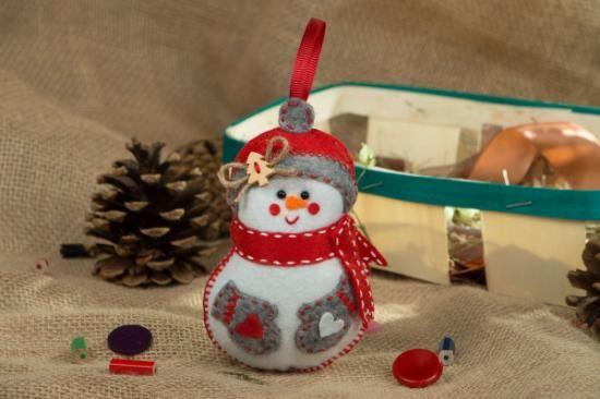 adorno navideño de fieltro  fieltro hecho a mano