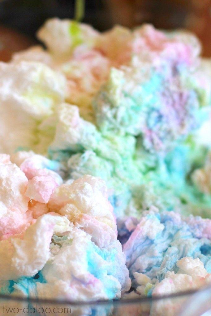 Make these fluffy, puffy, colorful rainbow clouds with just two common ingredients for some art, sensory, and science fun in one amazing activity!