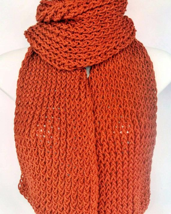 Check out this item in my Etsy shop https://www.etsy.com/uk/listing/529827396/orange-knitted-scarf-copper-wool-scarf