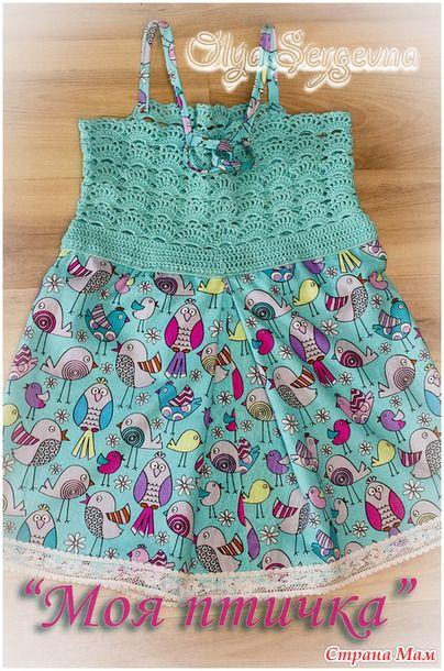 """Платье для девочки """"Моя птичка"""" - Вязание для детей - Страна Мам"""