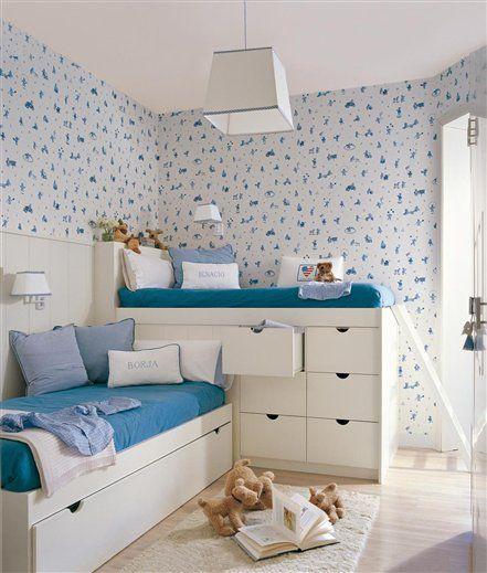Una habitación azul para los gemelos · ElMueble.com · Niños