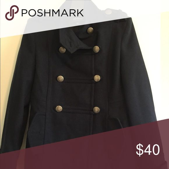 Women's Coffeeshop Coat Women's Military style coat, navy blue in color. Size small. Worn a handful of times, good condition, no damage. Super cute and very warm. CoffeeShop Jackets & Coats