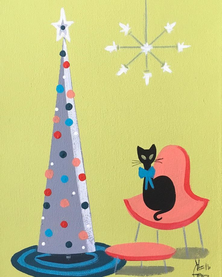 870 Best Retro Cat Art Images On Pinterest