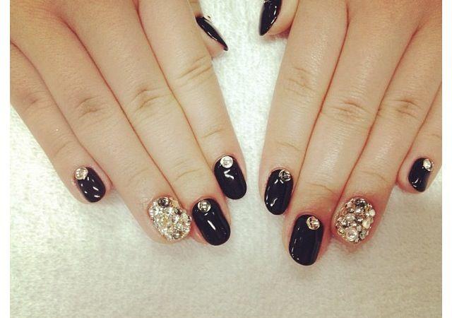 #uñas  #negras #decoracion uñas