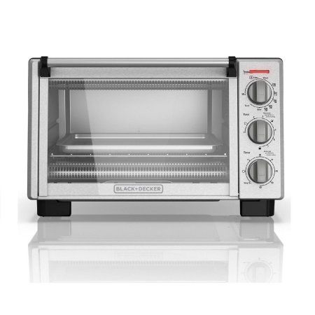 Black+decker 6 Slice Stainless Steel Toaster Oven, TO2055S, Silver