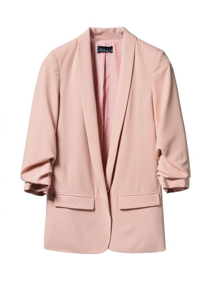 Длинный пиджак с подвернутыми рукавами, MOHITO, RD454-39X