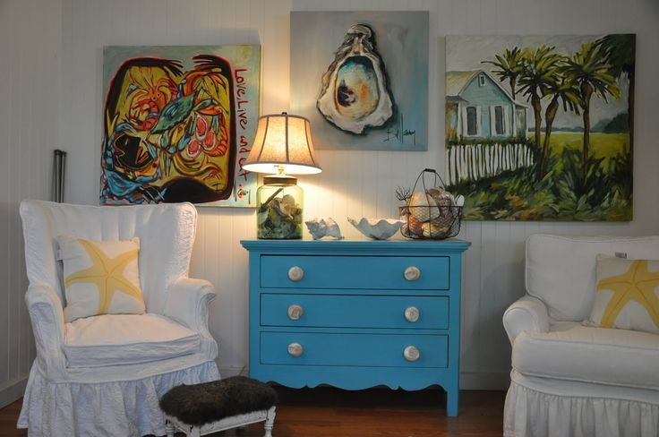 Lovely Beach cottage!Country Cottages, Beach House, Beach Cottages, Jane Coslick, Cottages Colors, Coastal, Chest Of Drawers, Coslick Cottages, Blue Dressers