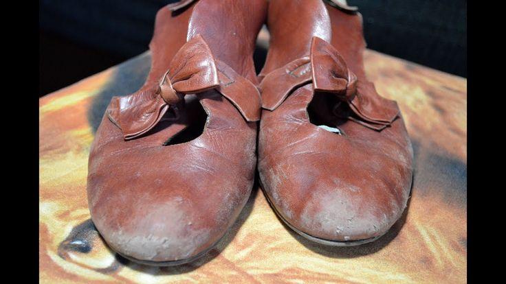 """Что делать если самые любимые и удобные туфли потеряли былой блеск? Или стали похожи непонятно на что? Или стали выглядеть как """"старый рваный башмак""""? Не нужно торопиться их выбрасывать! Над ними можно поэкспериментировать."""