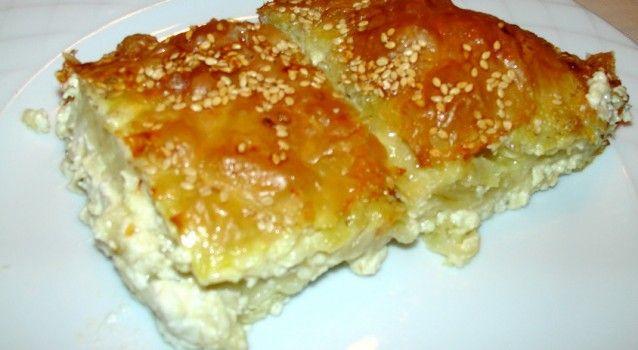 Μια πανεύκολη και απλή συνταγή, για αρχάριους, για να απολαύσετε μιαπεντανόστιμη τυρόπιτα με τυρί φέτα και γιαούρτι. Μια συνταγήγια μια υπέροχη τυρόπιτα για δεκατιανό, ορεκτικό, ή συνοδευτικό ή για ένα ελαφρύ γεύμα ή δείπνο με μια μεγάλη πράσινη σαλάτα. Υλικά συνταγής 10 φύλλα κρούστας 320 γρ. φέτα 1 κεσεδάκι [200