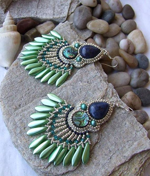 Hey, I found this really awesome Etsy listing at http://www.etsy.com/listing/176606410/10-off-bead-embroidery-earrings-bead