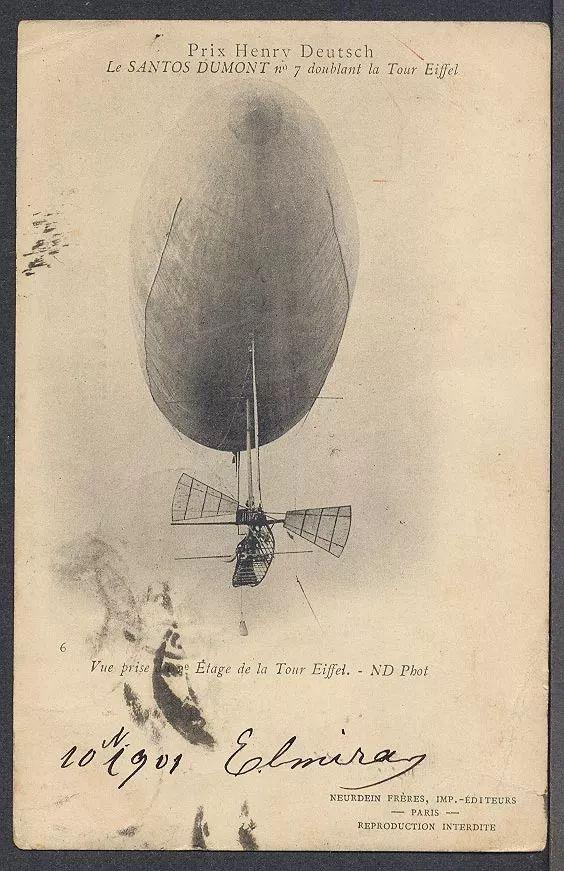 Santos Dumont - Cartão Postal Antigo Original Circulado 1901 - R$ 135,00 em Mercado Livre