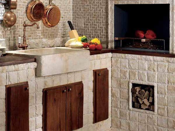 Le 25 migliori idee su cucine rustiche di campagna su - Cucine in muratura rustiche ...