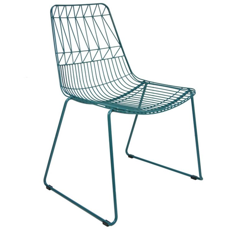 This chair design is a funky and modern chair and combines flair and practicality. The closeness and arrangement of the wires are designed to encourage relaxation and added comfort for extended sitting. Our chairs have been galvanised and powdercoated and are suitable for indoor or outdoor use. The chairs distinct lines can be combined to complement any style or environment, be it used in the home or cafe, restaurant, pub and bars.