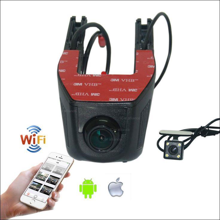 For Skoda Yeti Car Dash Cam APP Control Car Wifi DVR G-sensor Novatek 96658 FHD 1080P WDR Dual Lens Car Black Box