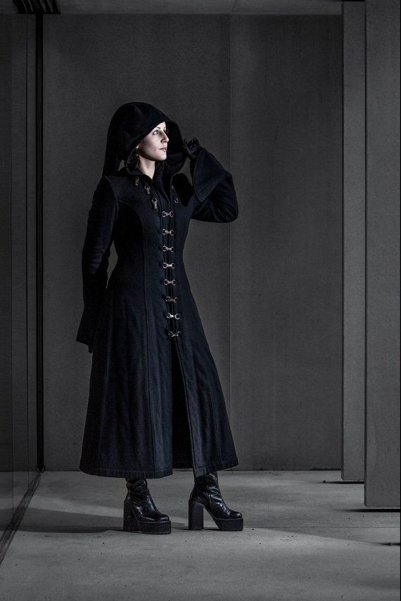 Designer of the project is Kamila Maślak also known as a Louve Shevolf- member of this shop!  This warm coat with long hood and wide sleeves is