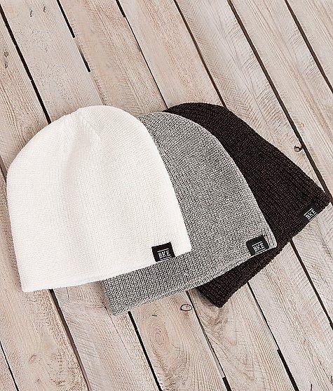 BKE Rhet Three Pack Beanies - Men's Hats   Buckle