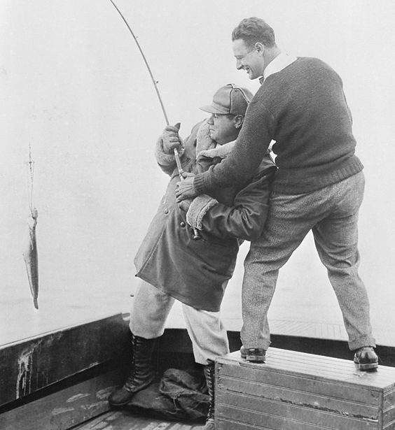 Babe Ruth & Lou Gehrig go fishing!