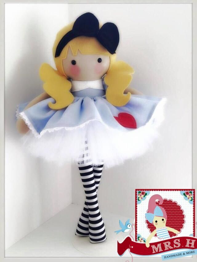 """This dolly is 19"""" tall and wears a removable skirt"""