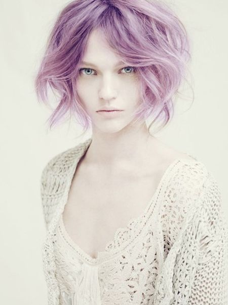 short purple / lavender pastel hair