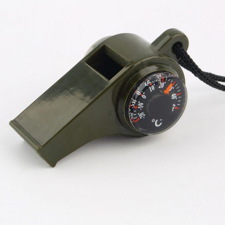1 Шт. 3 в 1 Whistle Компас Термометр Для Наружного Чрезвычайным Передач Отдых На Природе Survival Kit