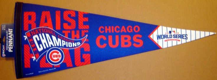 2016 Chicago Cubs National League Champions World Series Pennant | eBay