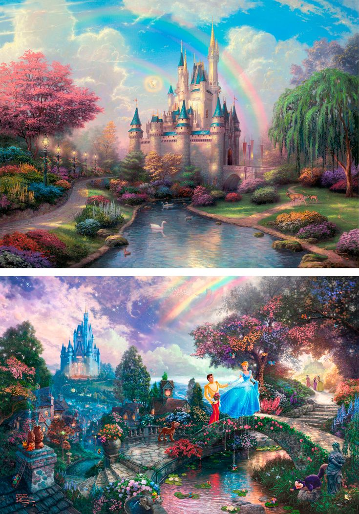 Thomas Kinkade - Disney - His use of detail is awe-inspiring... I have these all on another board but none of this quality / color so I thought I'd pin again : )