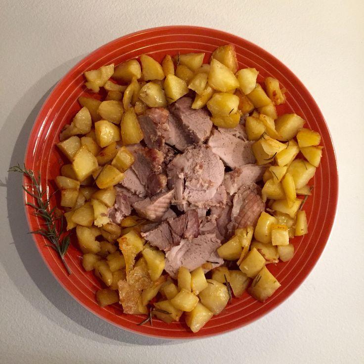 Arista di bovino con patate al forno