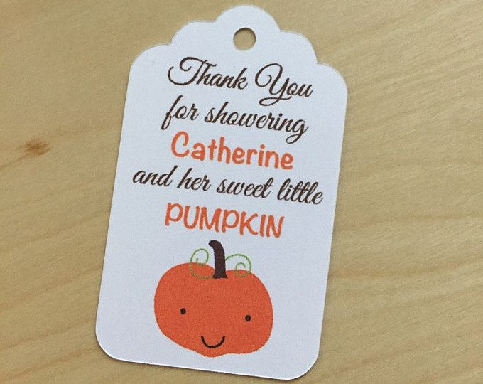 fall baby shower favor tags pumpkin baby shower favor tags little