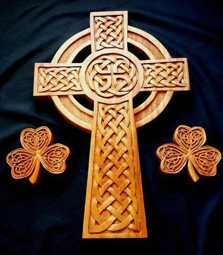 Celtic Cross & Shamrocks