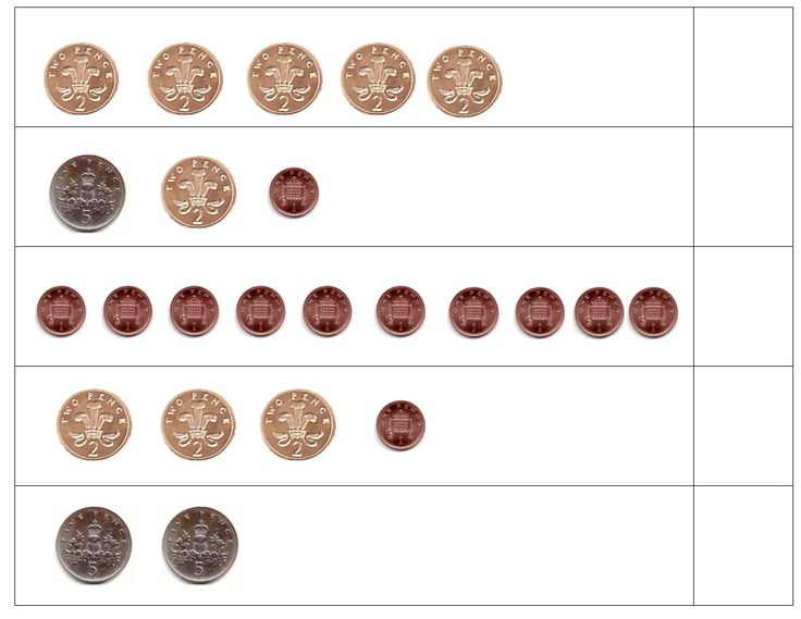 Simple counting money worksheets for adding up different amounts using a range of coins.