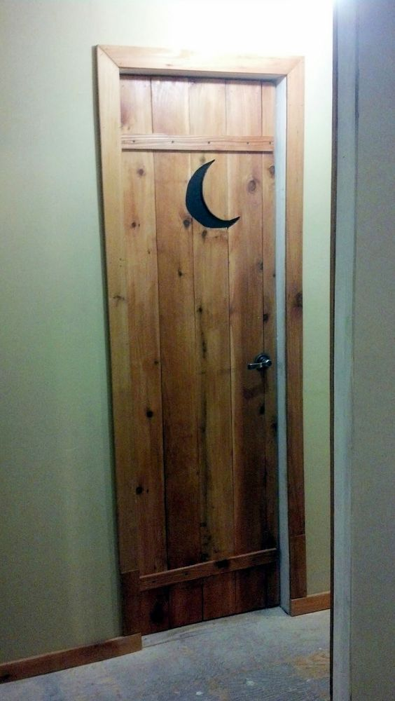 Country Outhouse Bathroom Door Idea