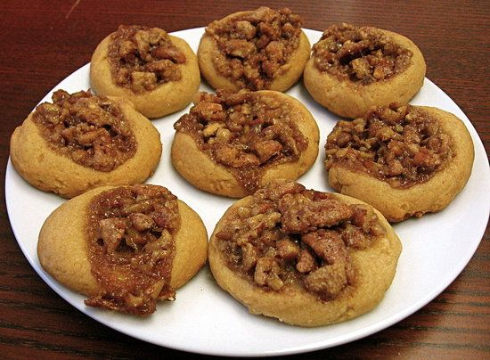 These award winning pecan pie thumbprint cookies are very tender and really do taste like pecan pie.
