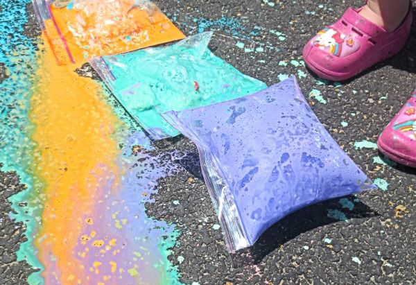 Exploding sidewalk chalk! Could we have this as some sort of quest booby-trap?
