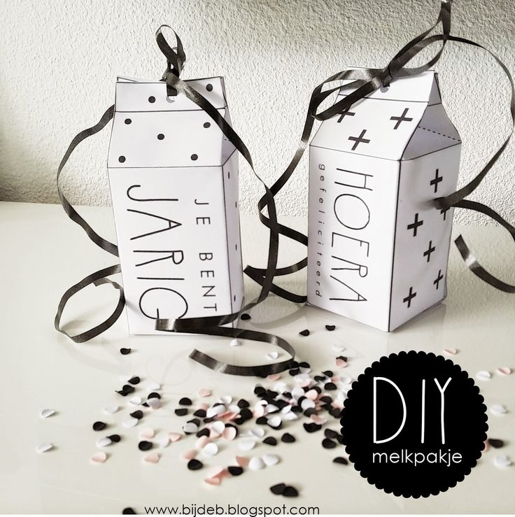 Free Printables melkpakje / milk carton: bijdeb: