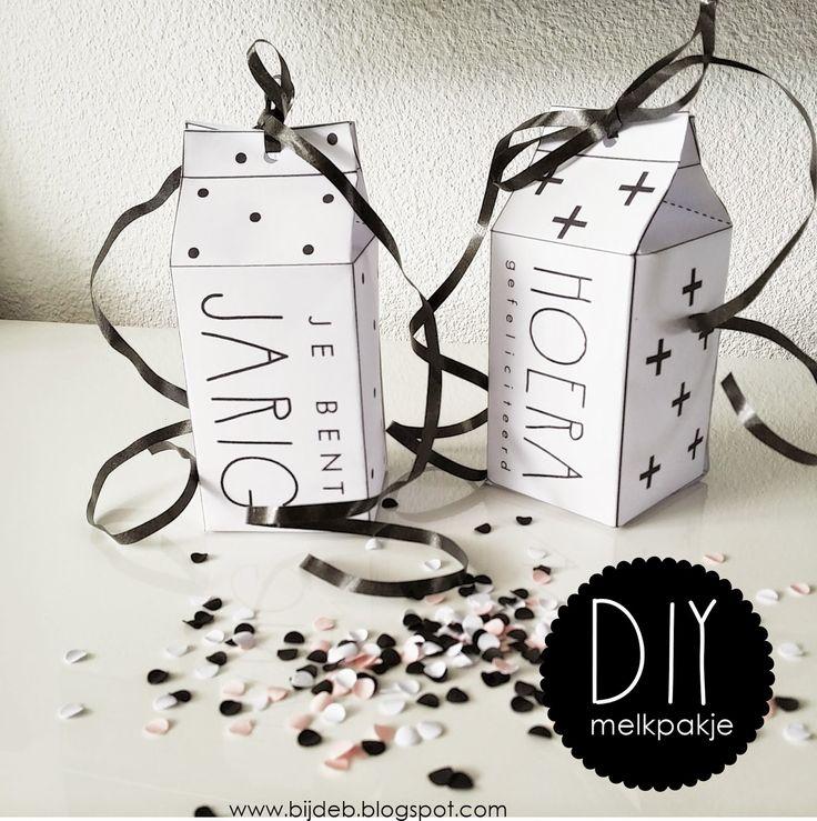 bijdeb: Free Printables melkpakje