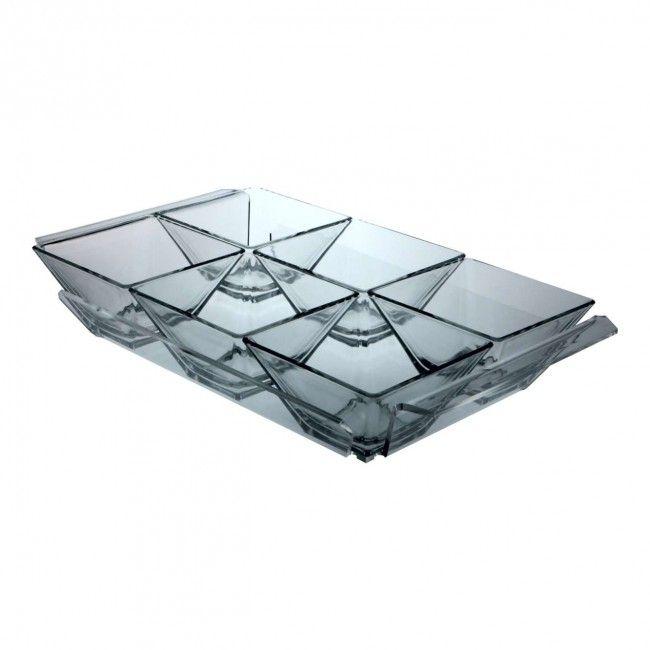 Antipastiera in plexiglass 6 scomparti