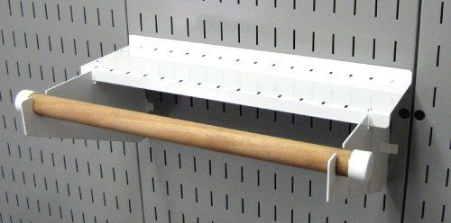 Wall Control Pegboard Paper Towel Holder And Dowel Rod