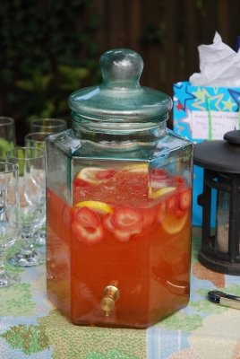 strawberry lemonade (with vodka of course). Perfect for housewarming party!