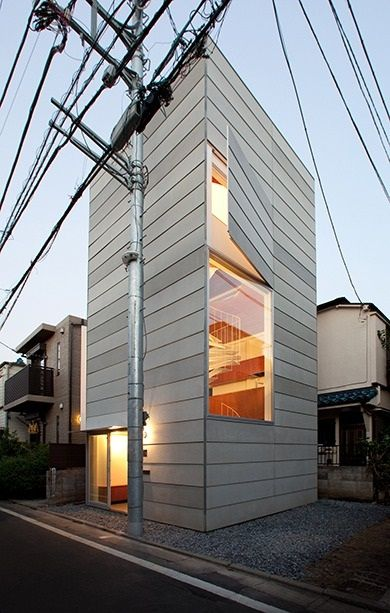 A compact house the length of a car becomes an urban paradigm for a poetic existence in the density of Tokyo's quarters