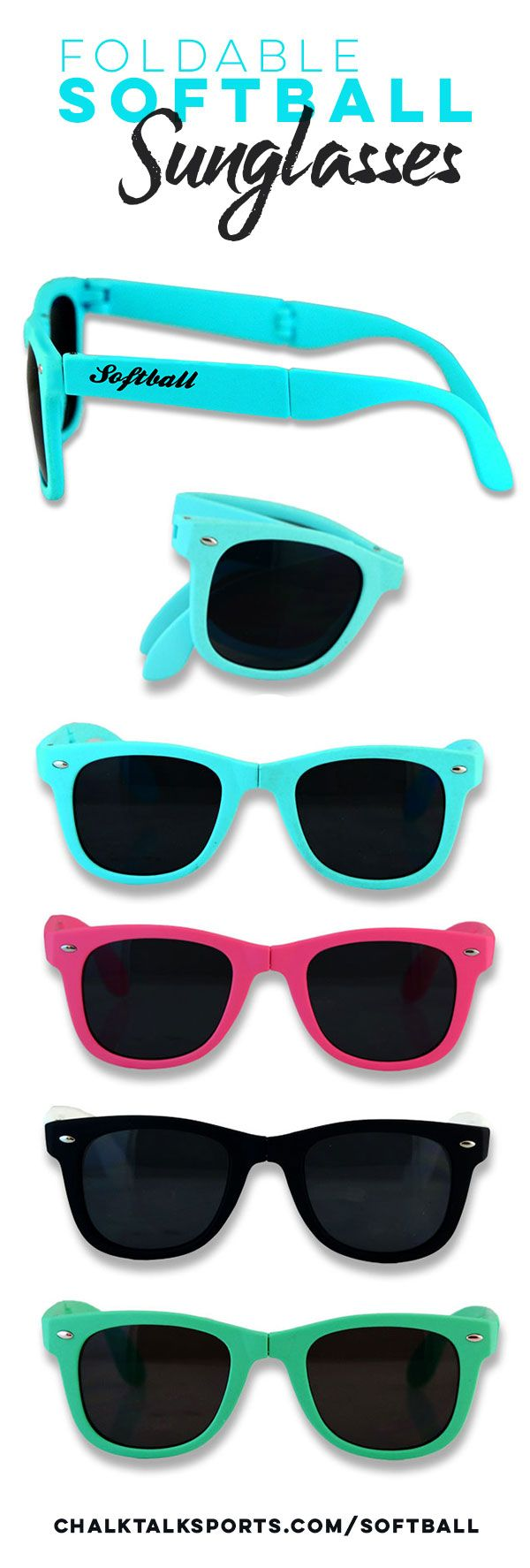 Check out these awesome foldable Softball Sunglasses!