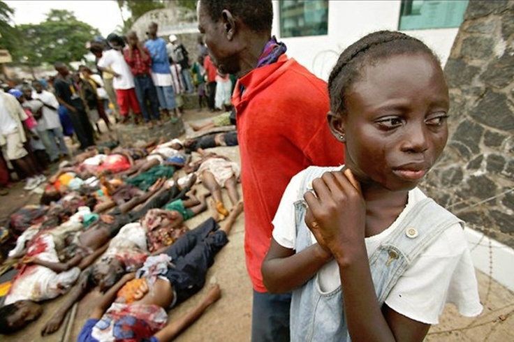 """At the time, President George W. Bush said: """"We're deeply concerned that the condition of the Liberian people is getting worse and worse and worse."""""""